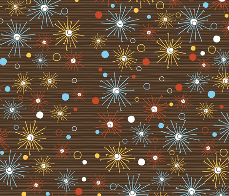 Blast pattern on brown fabric by kamiekazee on Spoonflower - custom fabric