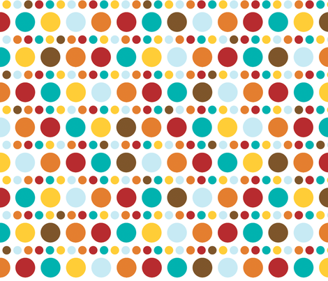 Sunkissed polkadots fabric by kamiekazee on Spoonflower - custom fabric