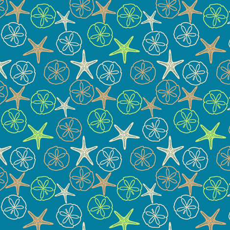Sea Gifts - Biscuit-Tropical Seas fabric by inscribed_here on Spoonflower - custom fabric
