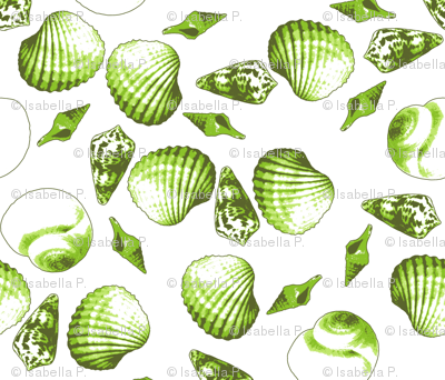 Shell-Mell - Seaweed-White