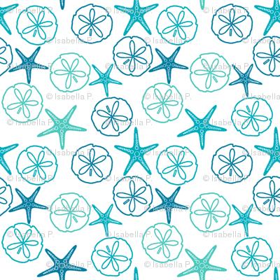 Sea Gifts - Tropical Seas-White