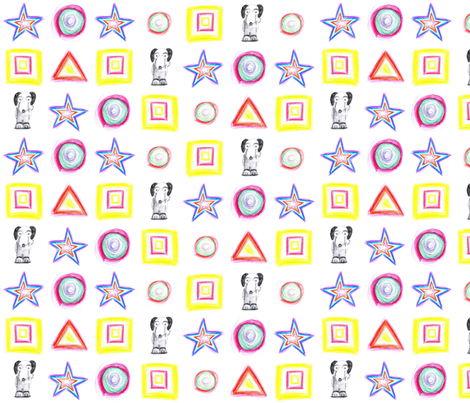FUNky DOG fabric by jaja on Spoonflower - custom fabric