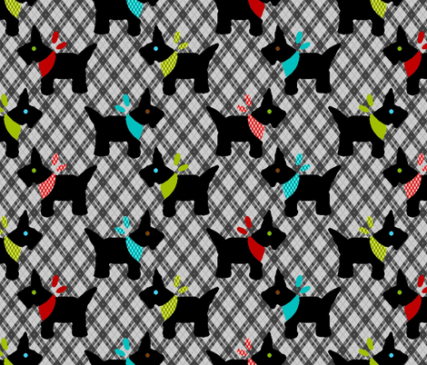 Pups in Plaids Parade fabric by kdl on Spoonflower - custom fabric
