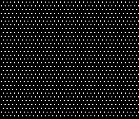 Trés Chic Black & White Small Polka Dots fabric by kamiekazee on Spoonflower - custom fabric