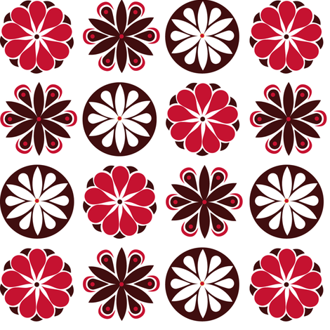 Winter Flowers in Red fabric by havemorecake on Spoonflower - custom fabric