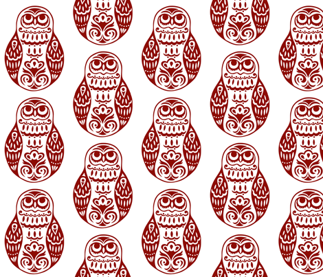 Swirls Original Owl fabric by havemorecake on Spoonflower - custom fabric