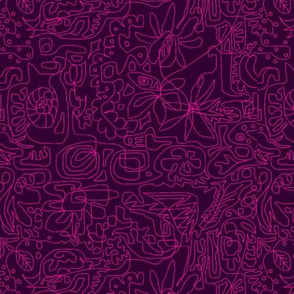 Pink on Purple Line Design