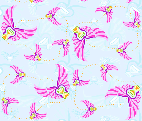 As Time Flies fabric by kdl on Spoonflower - custom fabric