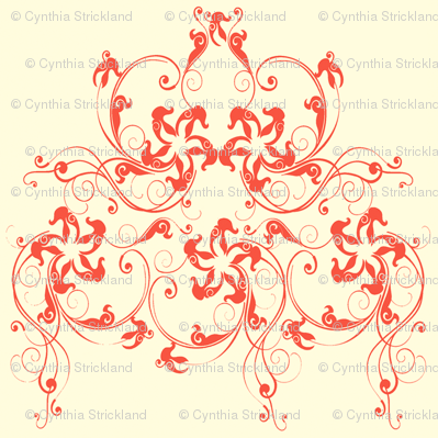 Starfish Damask