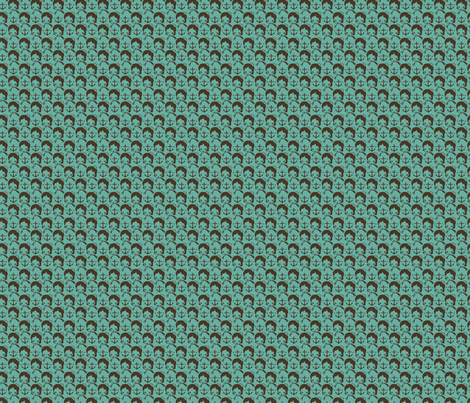 anchor_repeat_teal fabric by milktooth on Spoonflower - custom fabric