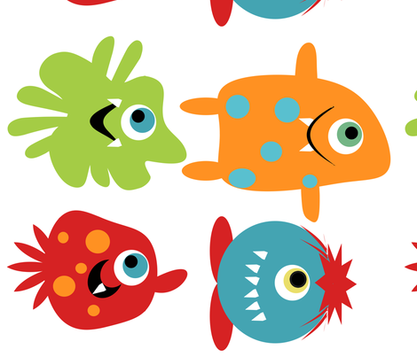 Oversize Monsters fabric by tracydb70 on Spoonflower - custom fabric