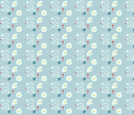 fried eggs fabric by mairi on Spoonflower - custom fabric