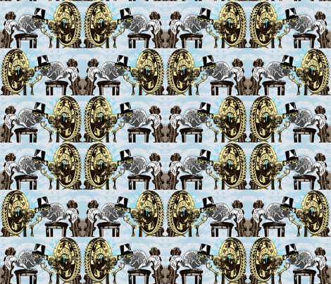 Professor Glaucomy's Mad Flight fabric by rayne on Spoonflower - custom fabric
