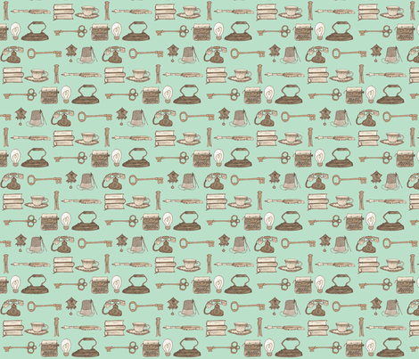 Around the House fabric by erin_lebeau on Spoonflower - custom fabric