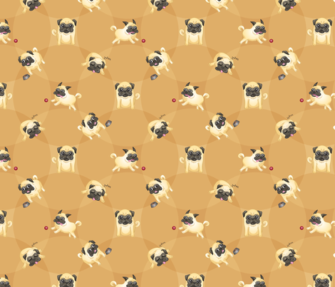 Pugs! fabric by jaana on Spoonflower - custom fabric
