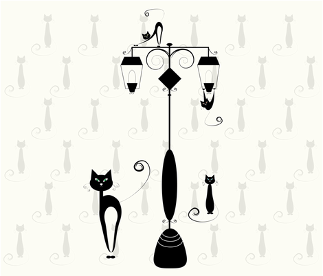 cats fabric by little_miss on Spoonflower - custom fabric