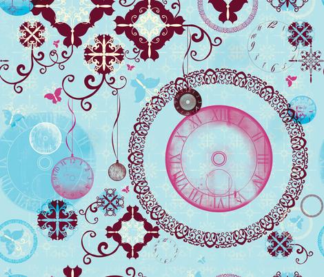 Time Travel Metamorphosis  fabric by kamiekazee on Spoonflower - custom fabric
