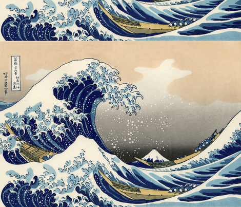 Great Wave off Kanagawa 42w 29h repeat fabric by buckskin_fringe on Spoonflower - custom fabric