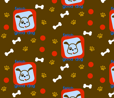 Good Dog fabric by hipmama on Spoonflower - custom fabric