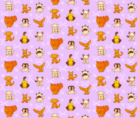 Dogs fabric by jadegordon on Spoonflower - custom fabric
