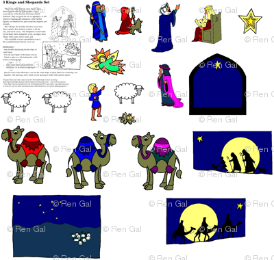 Nativity Kings and Shepherds Set