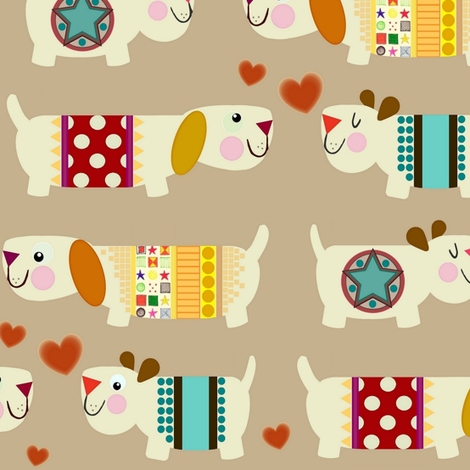 woo woo woofers fabric by scrummy on Spoonflower - custom fabric