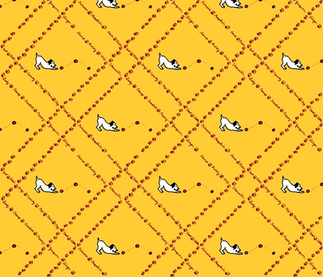 chasing fabric by kitty_blu on Spoonflower - custom fabric