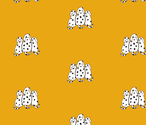 Dalmatians on yellow fabric by vishalart on Spoonflower - custom fabric