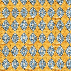 Diamonds in the sky blue orange
