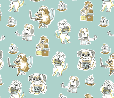 mits_dogs_sq fabric by mcuetara on Spoonflower - custom fabric