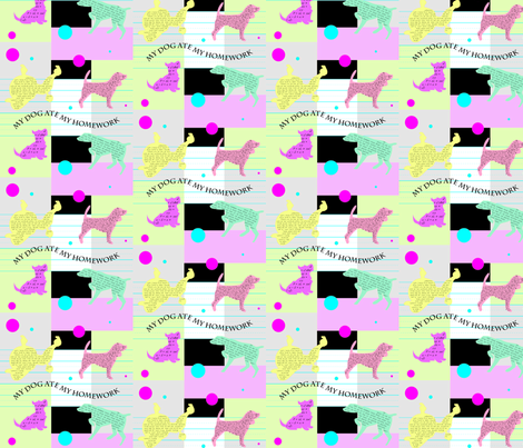 MyDogAteMyHomework fabric by Clothdog on Spoonflower - custom fabric