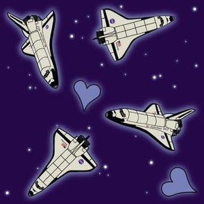 Space shuttle fabric wallpaper gift wrap spoonflower for Space shuttle fabric