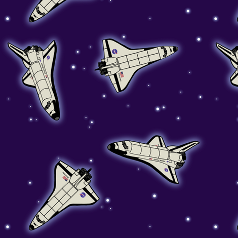 Space Shuttles fabric by felis_astrum on Spoonflower - custom fabric