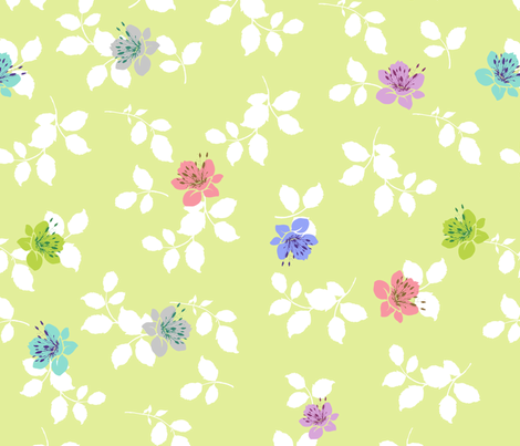 spring comes fabric by blingmoon on Spoonflower - custom fabric