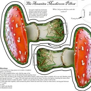 Amanita Mushroom Pillow Small Fat Qtr