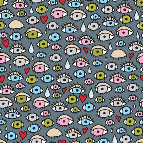 Eyes. fabric by panova on Spoonflower - custom fabric