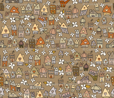 Autumnish houses