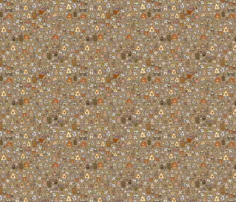 Autumnish houses fabric by catru on Spoonflower - custom fabric