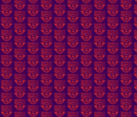 Purple Soviet Sewing Machine fabric by tinet on Spoonflower - custom fabric
