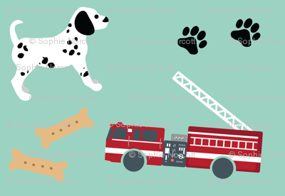 Fire Trucks and Dalmatian Puppies