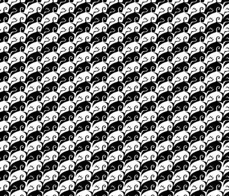 Meowstooth fabric by jaana on Spoonflower - custom fabric