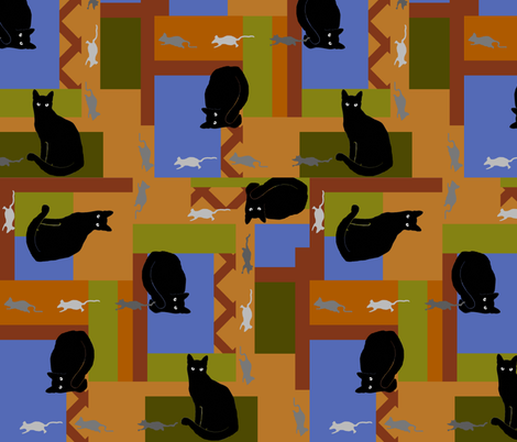 Cats Amore II fabric by poetryqn on Spoonflower - custom fabric