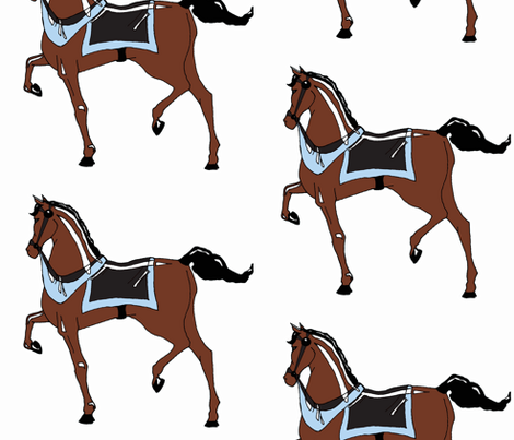 Boys' Carousel Pony fabric by pond_ripple on Spoonflower - custom fabric
