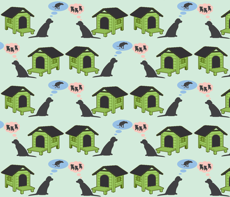 doggie loveish fabric by luluhoo on Spoonflower - custom fabric