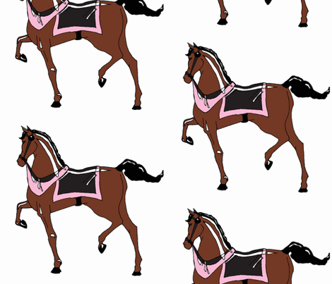Girls' Carousel Pony fabric by pond_ripple on Spoonflower - custom fabric