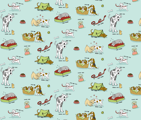 A Dog's Tale fabric by hauteideas on Spoonflower - custom fabric