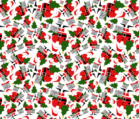 Ho Ho Ho  fabric by poetryqn on Spoonflower - custom fabric