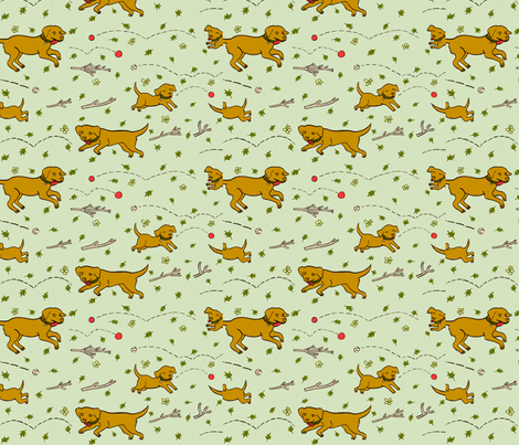 Fetch! fabric by emuattacks on Spoonflower - custom fabric