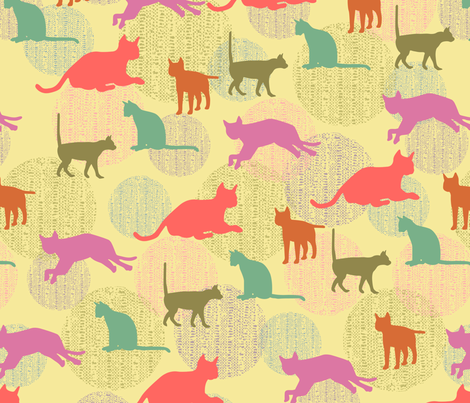 sweet_cat fabric by blingmoon on Spoonflower - custom fabric