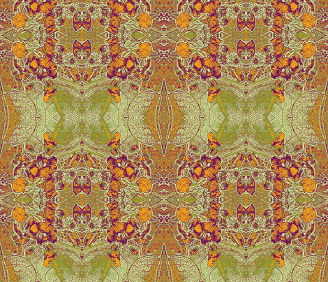 Hardenbergia_reduction in yellow fabric by engelstudios on Spoonflower - custom fabric